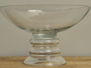 Glass Bowl – Rings Clear