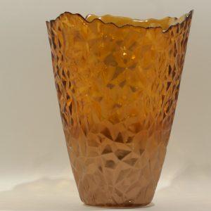 Topaz Vase Burned Orange