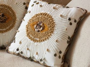 Cushion – Embroided Shells