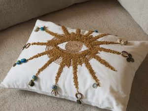 Cushion – Embroided Sun