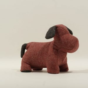 Doorstop – Red Herringbone
