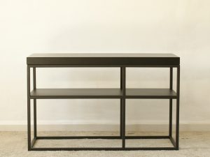 Console blackwood side table