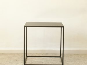 Coffee table black metal 40X40X40