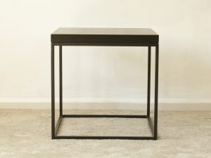 Coffee table veneer black 50X50X50
