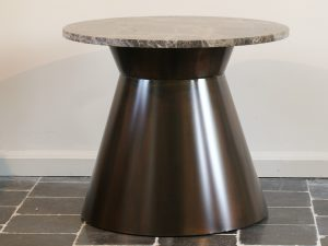 Round table Bronze marble Emperador 60 cm