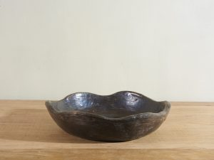 Black pottery Bowl Waves