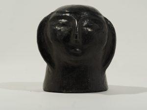 Black pottery Woman head