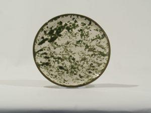 Desert plate Olive Mottled