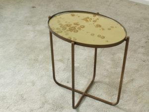 Side table – antique mirror