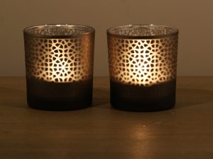 Votive Geometric Brown sm