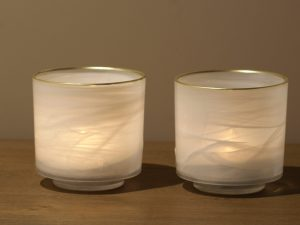 Votive Alabaster White