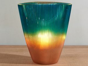 Vase Luce Oval Esmeralda Brons