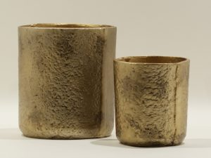 Planters Alugold Set of 2