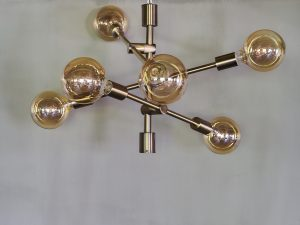 Chandelier Vintage Brass plating