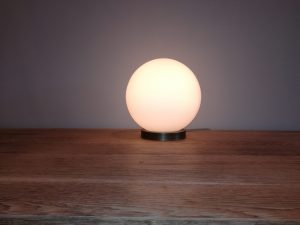 Lamp Frosted Glass Bowl SM