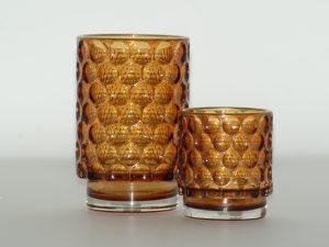 Votive – Glass circles Amber MM