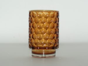 Votive – Glass circles Amber MM