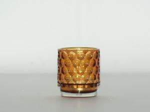 Votive – Glass circles Amber sm