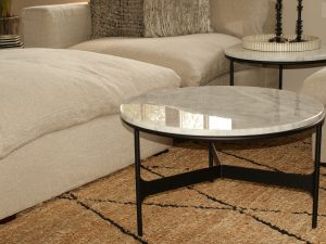 Coffee table  round Helsing Cararra D70cm