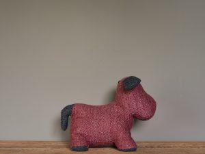 Doorstop – Red Herringbone