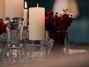 Candle holder glass MEDWAL BASE