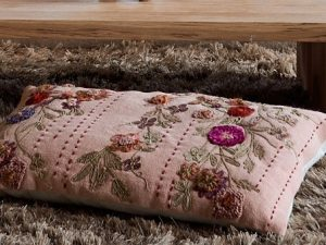 Cushion – EMBROIDERY OLD PINK