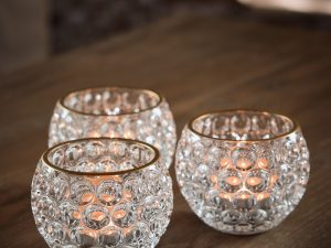 Votive – Glass round circles clear