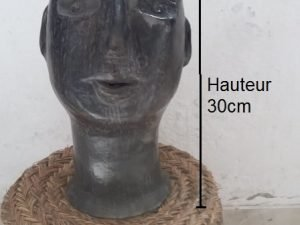 Black pottery BIG HEAD 30CM