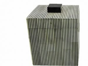 Box Square Greybone stripe BL/WH GM