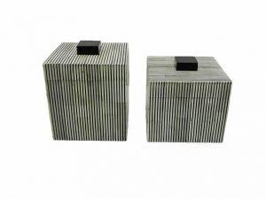Box Square Greybone stripe BL/WH GM