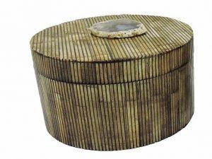 Round Box Antiq Bone L