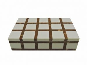 Box Rectangular check brown