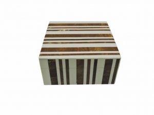 Box Square stripe brown