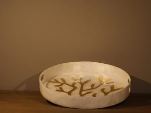 Tray Round Shell Coral design