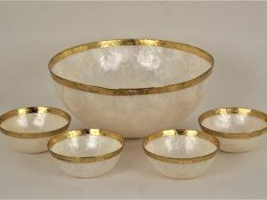 Bowl Shell gold rim