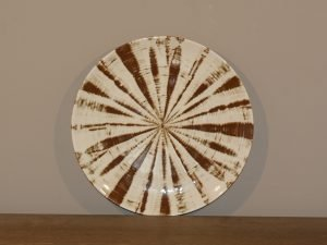 Plate TRIBAL STRIPE BROWN 19CM