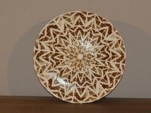 Plate TRIBAL SUN BROWN 19CM
