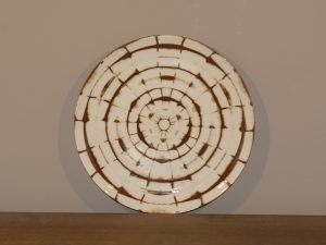 Plate TRIBAL ROUND BROWN 19CM