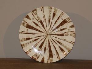 Plate TRIBAL STRIPE BROWN 26CM