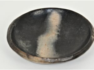 Black Pottery plate flame 25CM