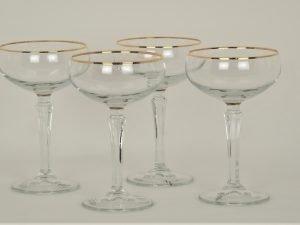 Coupe champaign Gold Rim