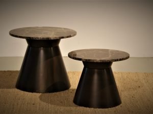 Round table Bronze marble Emperador 60 cm