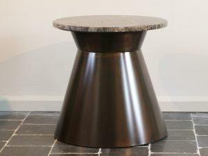 Round table Bronze marble Emperador 50CM