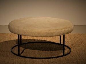 Coffee table Pouf Derling D90  Milwool Brown